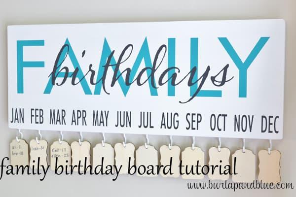 birthday board tutorial