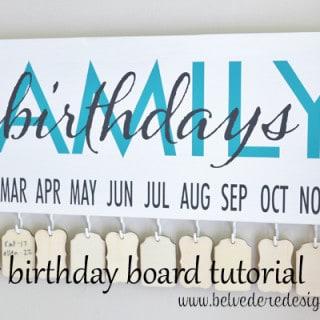 family birthday board {a tutorial}