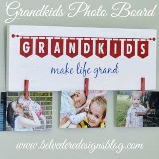 grandkids photo board {a tutorial}