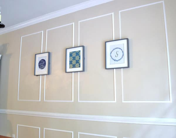 molding burlap and blue   dining room molding. DIY Crafts