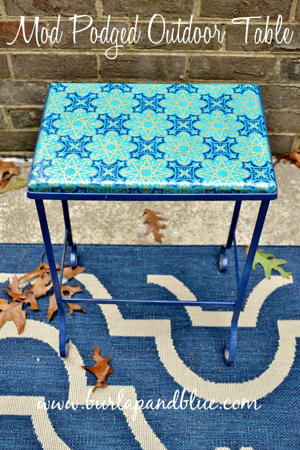 mod podged outdoor table
