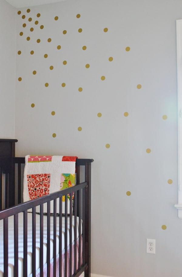DSC 0021 5 copy gold polkadot wall {a tutorial}