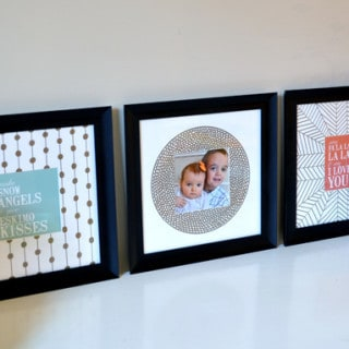 how to decorate photo mats with Sharpie