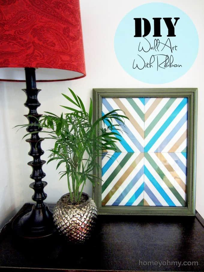 DIY-Wall-Art-With-Ribbon2-768x1024