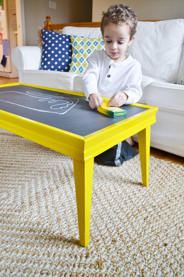 chalkboard coffee table 2