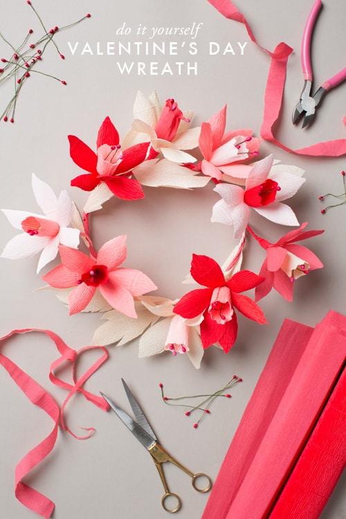 floralheadcrown21 20 valentines day crafts and tutorials