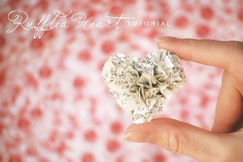 ruffledheartvalentinediy1 20 valentines day crafts and tutorials