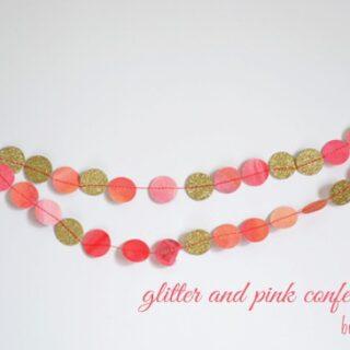 glitter and watercolor confetti garland {a tutorial}