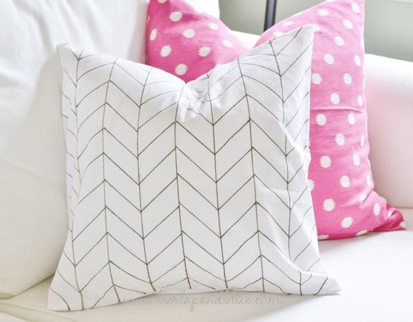 herringbone pillow tutorial