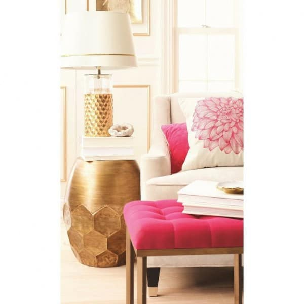 pink gold rooms