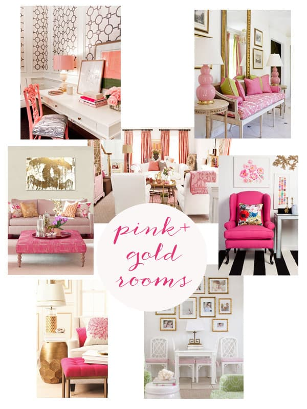 pink and gold rooms