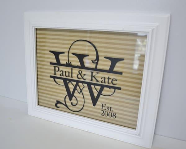 key hook 2 personalized monogram frame {a tutorial}