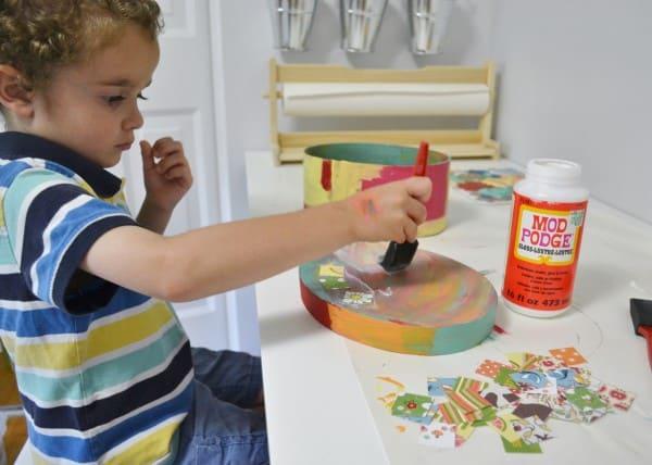 Kids' Mod Podged Treasure Box