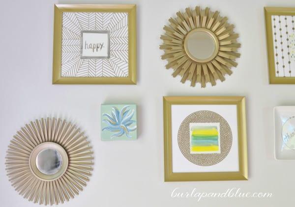 bedroom gallery wall 2 600x421 bedroom gallery wall