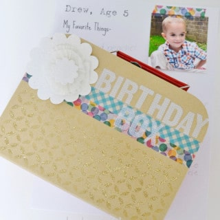 birthday box {a tutorial + printable}