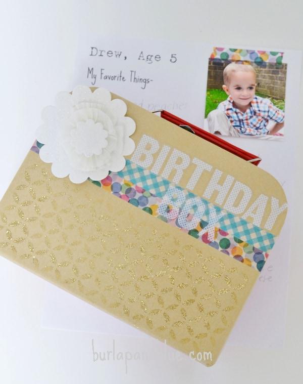 birthday box tutorial burlap and blue 2
