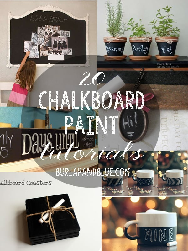 chalkboard paint tutorials 20 Chalkboard Paint Tutorials
