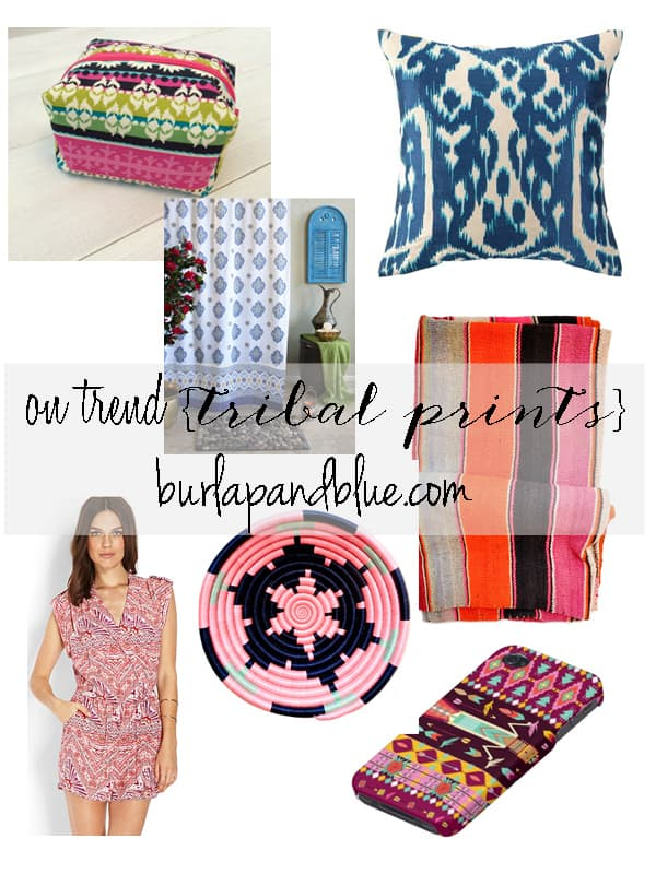 tribal prints on trend {ethnic and tribal prints}