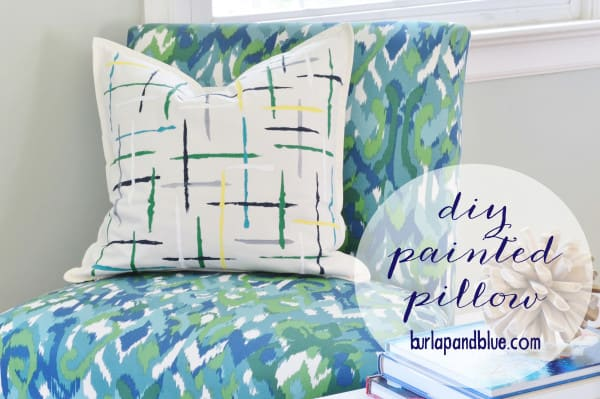 painted pillow tutorial 1