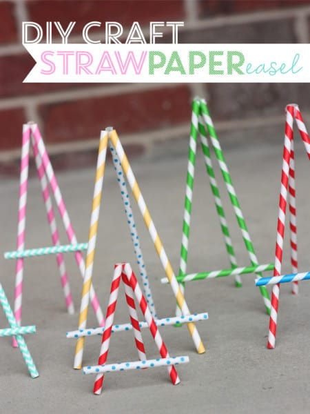 image19 paper straw easel DIY craft 450x600 25 paper straw crafts