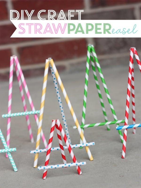 ideas for hanging photos without frames - DIY Paper Straw Crafts