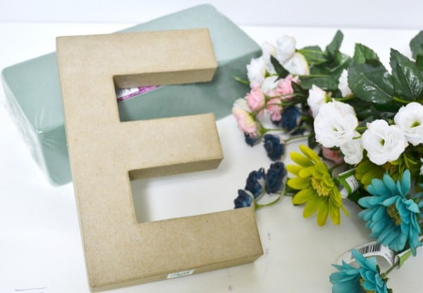 floral monogram diy