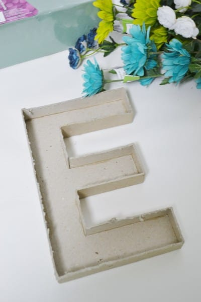 diy easy floral monogram