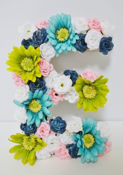 diy floral monogram