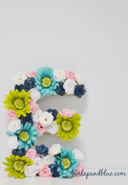 floral monogram tutorial