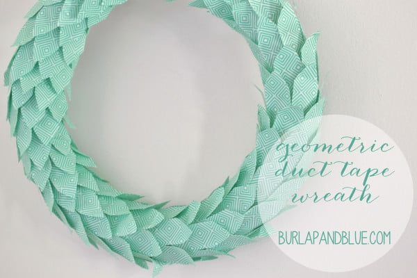 duct tape wreath tutorial
