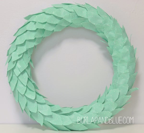 washi tape wreath diy