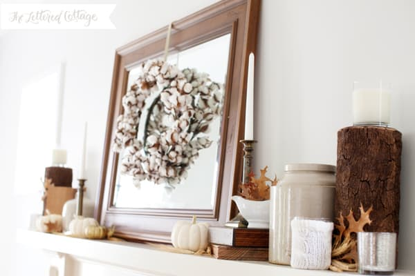 Fall Mantel Decorating The Lettered Cottage 7 simple fall mantles