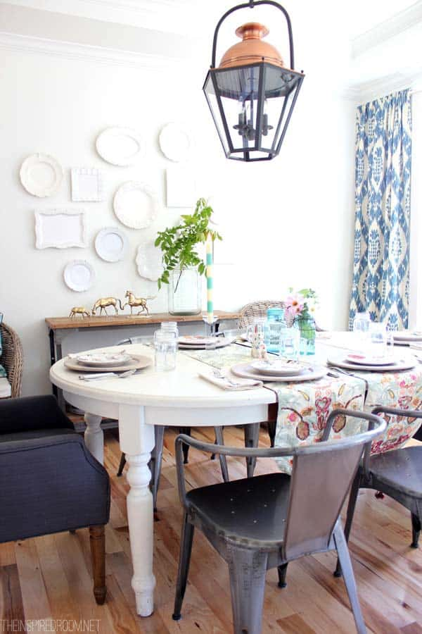 Summer Dining Room The Inspired Room home tour {the inspired room}
