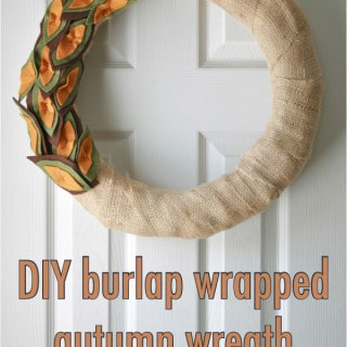 burlap and felt wreath {a tutorial}