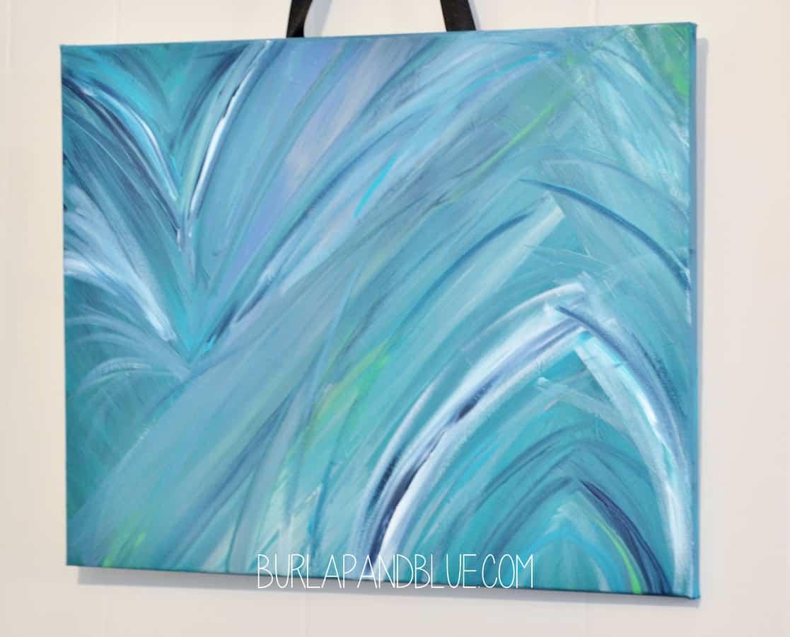 Blue Canvas Art Diy: Diy Painted Canvas