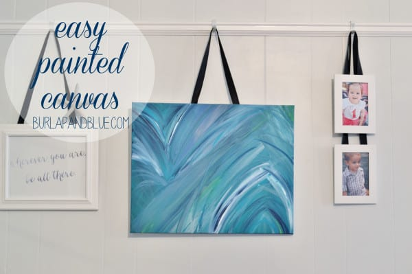 easy painted canvas 600x399 easy painted canvas {a tutorial}
