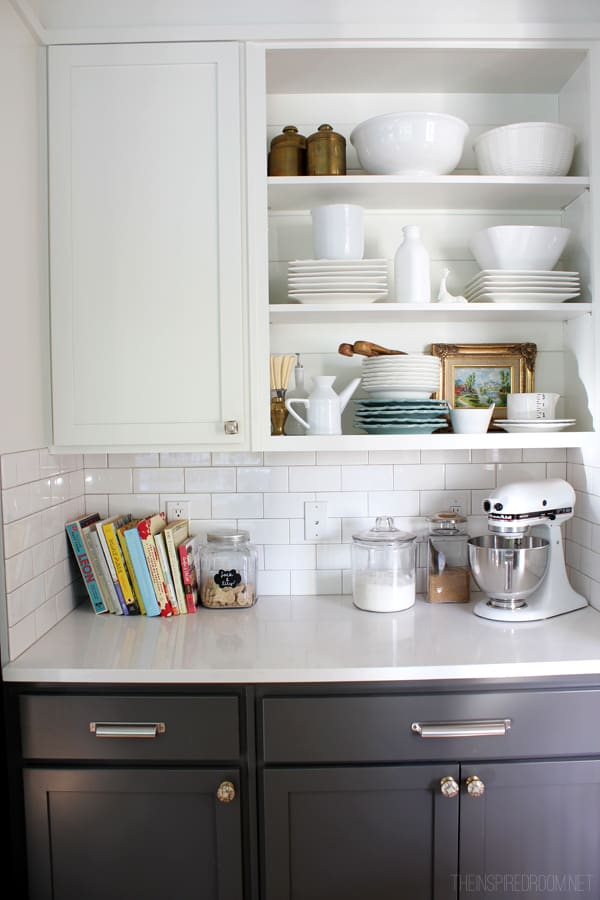 open shelves for dishes 1 home tour {the inspired room}