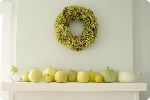 use green pumpkins 7 simple fall mantles