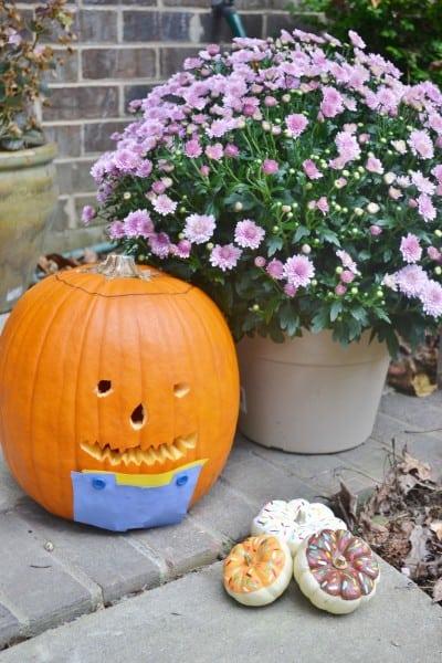 pumpkin in overalls