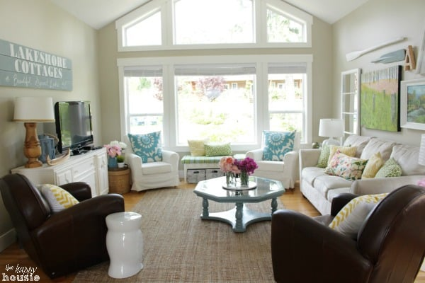Summer House Tour at The Happy Housie Living Room 3 home tour {the happy housie}