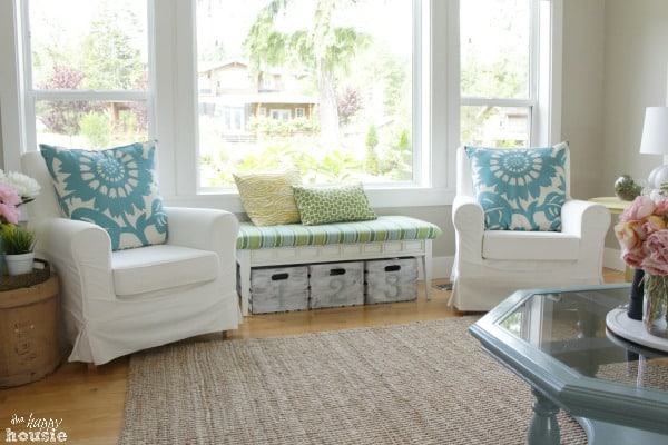 Summer House Tour at The Happy Housie Living Room 5 home tour {the happy housie}