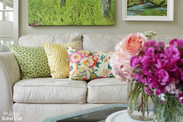 Summer House Tour at The Happy Housie Living Room 7 home tour {the happy housie}