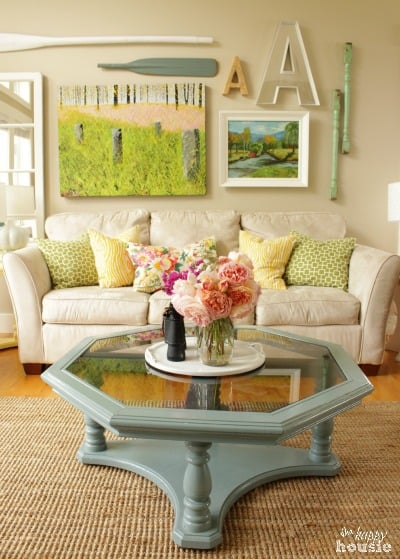 Summer House Tour at The Happy Housie in the living room home tour {the happy housie}