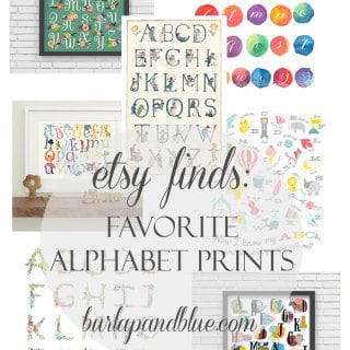 etsy finds {alphabet prints}