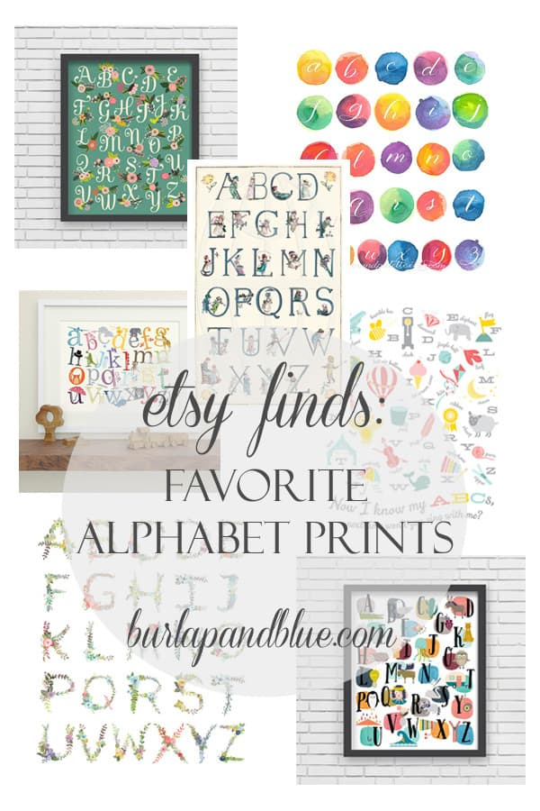 alphabet prints etsy