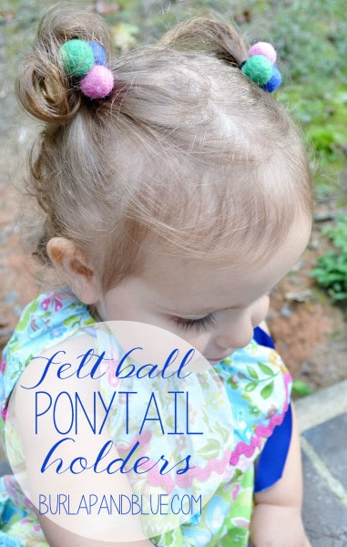 felt ball ponytail holders