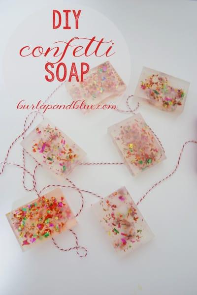 confetti soap diy