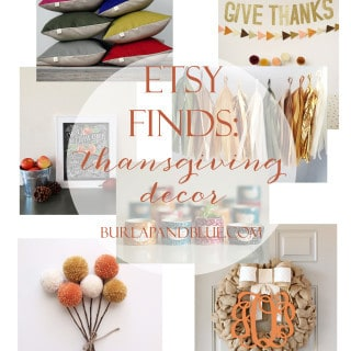 etsy finds {thanksgiving decor}