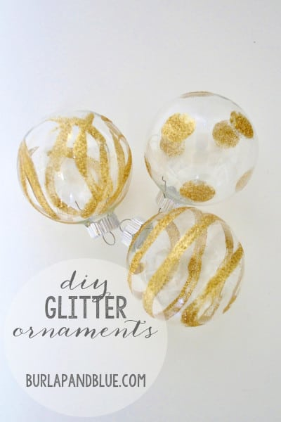 diy glitter ornaments 400x600 how to make glitter ornaments {a tutorial}
