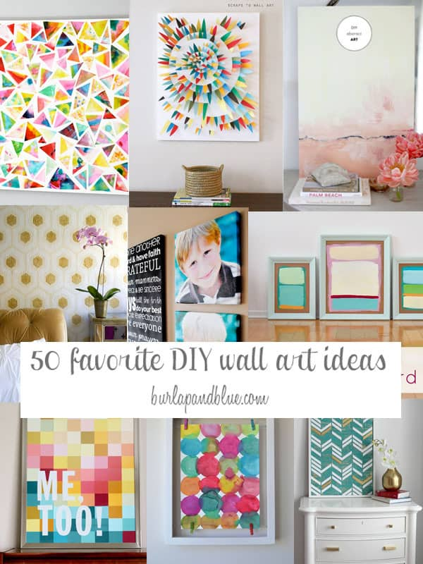 Best Crafts and DIY Posts from burlap+blue